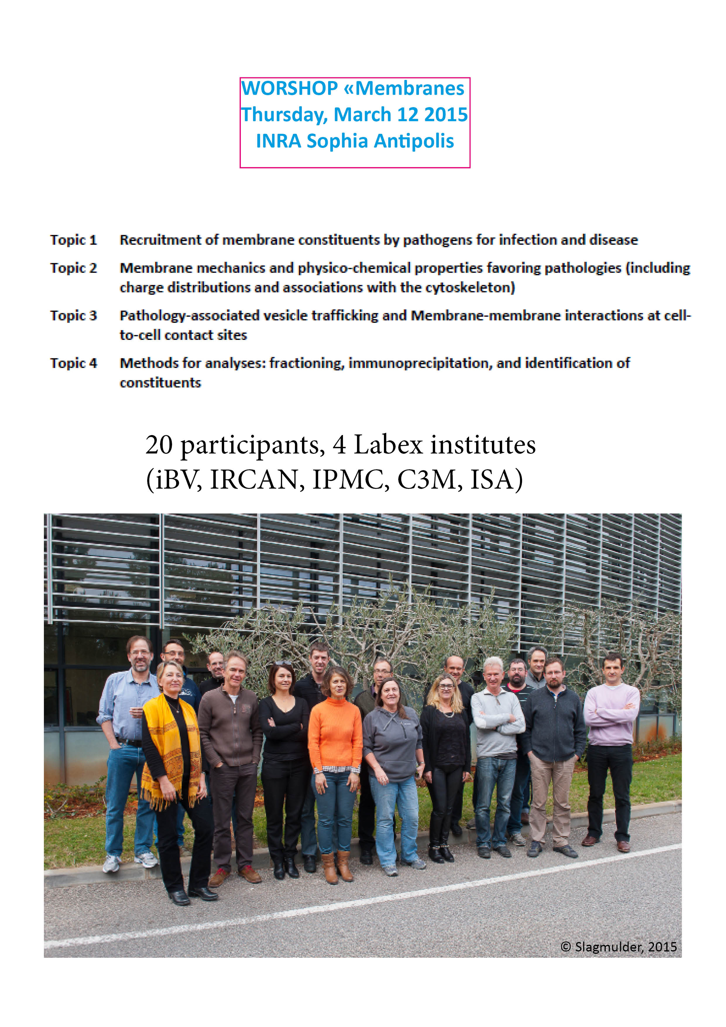 Workshop on Membranes