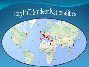 2015 PhD Students Nationalities