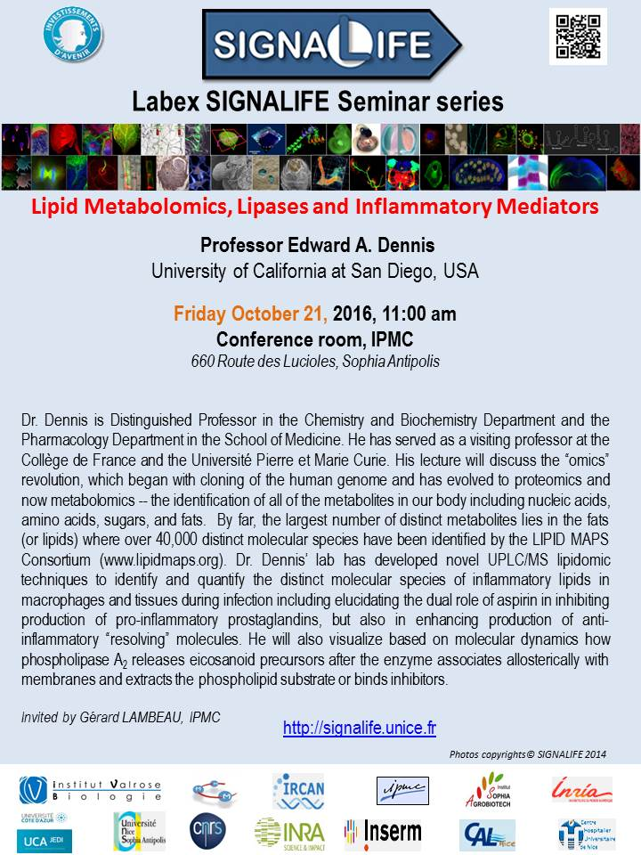 Edward Dennis SIGNALIFE Seminar Series 21 Oct 2016 OK